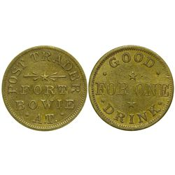 AZ - Fort Bowie,Cochise County - 1879-1890 - Post Trader  Token *Territorial*