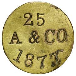 AZ - Holbrook,Navajo County - 1877 - A & Co. Token