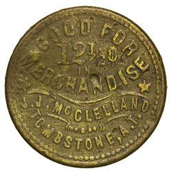 AZ - Tombstone,Cochise County - 1881-1883 -Uniface- McClelland, J.J. Merchandise Token *Territorial*