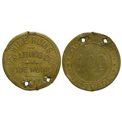 AZ - Wide Ruins,Apache County - 1927-1936 - Wide Ruins Trading Co. Indian Trader Token