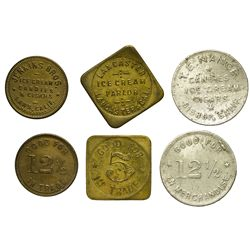 CA - Bishop,Inyo  County - Highway 395 corridor tokens