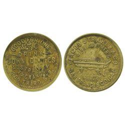 CA - San Francisco,c1875-80 - Australian Exchange Strahle Token