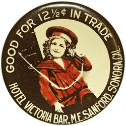 CA - Sonora,Tuolumne County - c1908 - Hotel Victoria Bar
