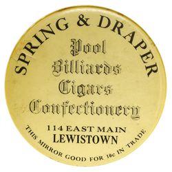 Lewistown,Montmorency County - c1905-1910 - Mirror Token