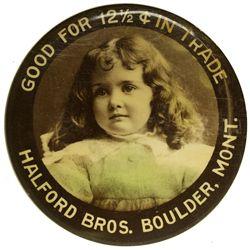 MT - Boulder,Jefferson County - c1905-1910 - Mirror Token