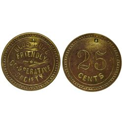 NM - Blossburg,Colfax County - c1888 - Friendly Co-Operative Society Token