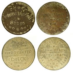 NM - Fort Wingate,McKinley County - Commissary Tokens