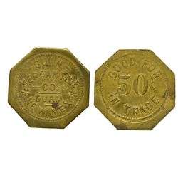 NM - Guam,McKinley County - Guam Mercantile Trade Token