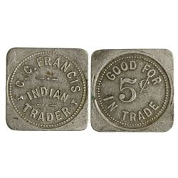 NM - Haynes,San Juan County - C. C. Francis Indian Trader Token