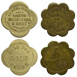 NM - Hillsboro,Sierra County - 1886-1908 - Hillsboro Tokens
