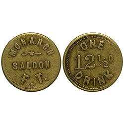 NM - Kingston,Sierra County - c1885-88 - Kingston Bar Token