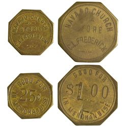 NM - Navajo Church,McKinley County - Navajo Church Tokens