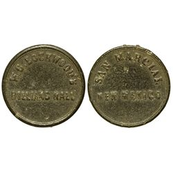 NM - San Marcial,Socorro County - W.C. Lockwood's Billiard Hall Token