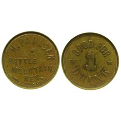 NV - Battle Mountain,Lander County - c1897 - Battle Mountain Token