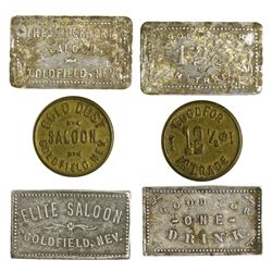 NV - Goldfield,Esmeralda County - Goldfield Bar Tokens