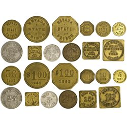 NV - Indian Springs,Clark County - 1880s-1961 - Nevada Prison and Military Tokens