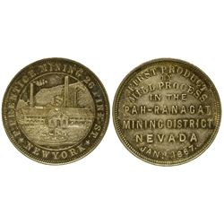 NV - Meadow Valley,Lincoln County - 1867 - Pah-Ranagat Mining District Token