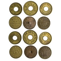 NV - Montello,Elko County - c1880s - Montello Tokens