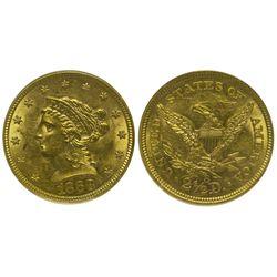 CA - San Francisco,1868s - 2 1/2 Dollar US Mint Gold Coin