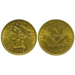 CA - San Francisco,1902s - 5 Dollar US Mint Gold Coin
