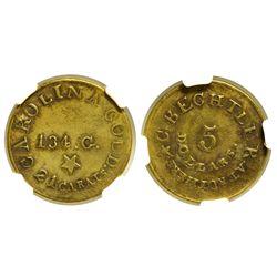 NC - c1837-1842 - C. Bechtler Five Dollar Coin