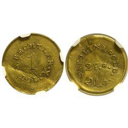 NC - 1842-1850 - A. Bechtler Gold Dollar Coin
