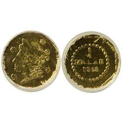 CA - San Francisco,1855/4 - California Fractional Gold BG 106 25C Octagonal Liberty