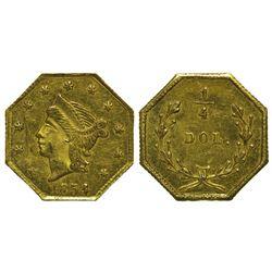 CA - San Francisco,1854 - California Fractional Gold BG 109 25C Octagonal Liberty