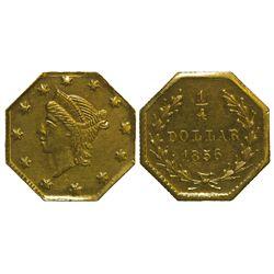 CA - San Francisco,1856 - California Fractional Gold BG 111 25C Octagonal Liberty
