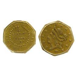 CA - San Francisco,1856 - California Fractional Gold BG 307 50C Octagonal Liberty