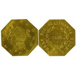 CA - San Francisco,1856 - California Fractional Gold BG 311 50C Octagonal Liberty