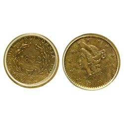 CA - San Francisco,1852 - California Fractional Gold BG 401 50C Round Liberty