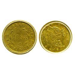 CA - San Francisco,1853 - California Fractional Gold BG 415 50C Round Liberty