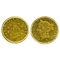 CA - San Francisco,1853 - California Fractional Gold BG 421 50C Round Liberty