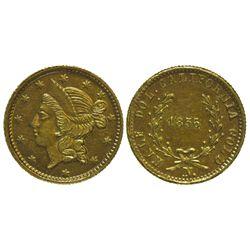 CA - San Francisco,1856 - California Fractional Gold BG 434 50C Round Liberty