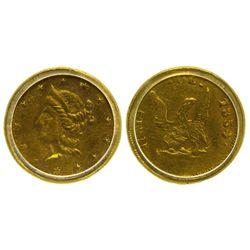 CA - San Francisco,1854 - California Fractional Gold BG 436 50C Round Liberty