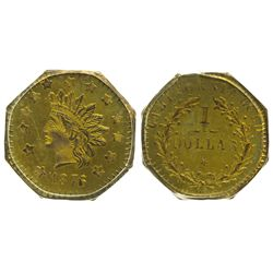 CA - San Francisco,1765/5 - California Fractional Gold BG 1129 $1 Octagonal Liberty