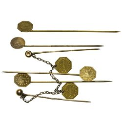 CA - San Francisco,1849-1880 - California Fractional Gold Stick Pins