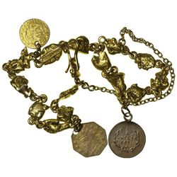 CA - San Francisco,1871-1883 - California Fractional Gold and Placer Nugget Bracelet