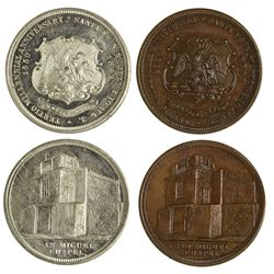 NM - Santa Fe,Santa Fe County - 1883 - San Miguel Church Medals