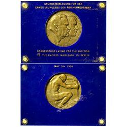 Germany - May 5th, 1934 - German Bronze Medal - Berlin