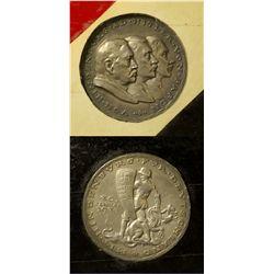 Germany - January 30th, 1933 - German Silver Medal by Karl Goetz - Hindenburg Hitler