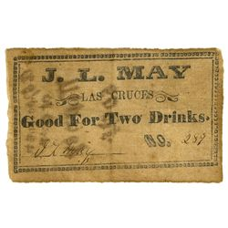 NM - Las Cruces, c1862-1864 - J. L. May Las Cruces Scrip
