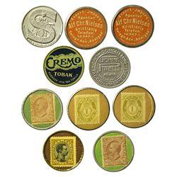 c1920 - European Encased Postage Stamps