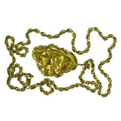 c1970s - Placer Gold Nugget Necklace