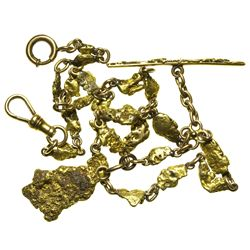 c1860's - Placer Gold Nugget Watch Fob