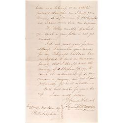 1865 - Samuel F. B,. Morse Letters and Brady Photo Samuel F. B,. Morse Letters and Signed Photo  Sam