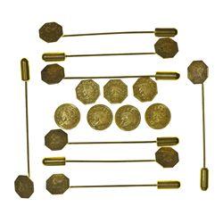 c1855 - Gold Tokens/Lapel Pins