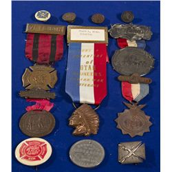 1891, 1892, 1912 - Indian War Medal and Pin Collection