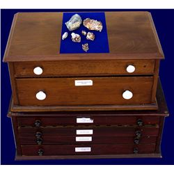 Mineral Cabinets and Ore Samples